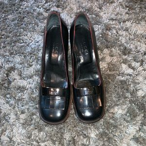 Gucci Women's Leather Pumps - Black Size7
